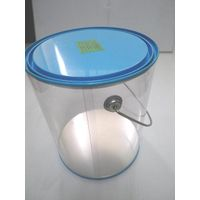 Big round box with printed tin lid and base