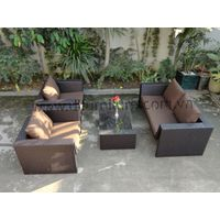 Hot Sale 2017 New Style Outdoor Furniture Modern Luxury Rattan Sofa Set.