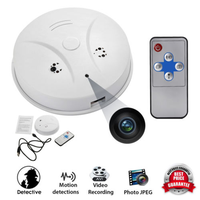 2018 smart home Security Camera Alarm System wireless smoke detector Hidden Camera somke detector