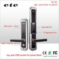 Wifi ZIGBEE App control / password / fingerprint mechanical outdoor keypad door lock