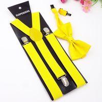 Mens Braces and Bow tie Sets Unisex Men and Women Adjustable Suspenders Clips Black thumbnail image