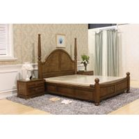 China Furniture Factory Export Solid Wood Bed Pastrol Style / High Quality Best Price / 1.8m 1.5m