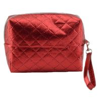 Small fashion Ultrasonic Nonwoven red travel cosmetic bag for girls