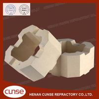 qualified manufacturer Zircon Corundum refractory brick for glass kiln