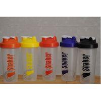 600ml protein shaker bottle with blender ball