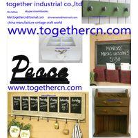 wholesale vintage wall hook rustic wooden shelf thumbnail image