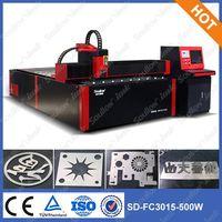 SD-FC3015-500W Fiber Metal Sheet Cutting Machine,Stainless Steel Sheet Cutting Machine for Sale