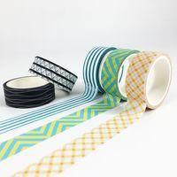 Stripe Geometrical Shape Decorative Washi tape in stock thumbnail image