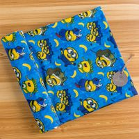Minions Printed Polyester Spandex Swim Fabric for Kids Swimwear