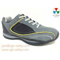 RGB Men's Safety Trainer Steel toe Shoes in Grey & Black SF-062