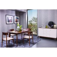 E1 Standard solid wood dining table and dining chair furniture from Tesco supplier thumbnail image