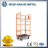 Warehouse Storage Foldable Security Wire Mesh cage trolley