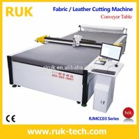 RUK lycra drifit textile cutting machine flatbed cutting plotter