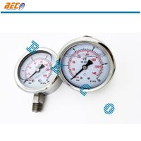 all stainless steel dry / oil pressure gauge