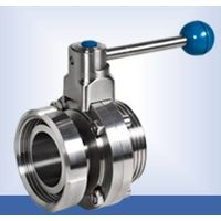 Sanitary single thread single nut butterfly valve with pull handle thumbnail image