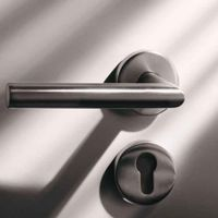 high quality 304 stainless steel hollow swing Europe and South america lever door handle with plate