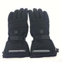 Men Women Heating Insulated Thermal Black Electric Heated Gloves For Climbing Hiking Skiing