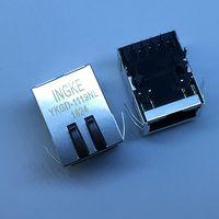 HFJ11-LGHRPE-L21RL Gigabit POE+ Tab-Down RJ45 Magnetic Modular Jacks