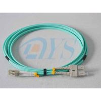 OM3 LC to SC fiber optic patch cord