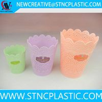 indoor open top plastic papre waste basket