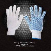 Cotton String Knit Gloves with PVC dots thumbnail image