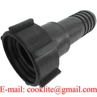 """YINY IBC Tank Fitting/Adapter DIN 61 Plastic Drum Coupling/Adaptor with 1-1/2"""" Hose Barb thumbnail image"""