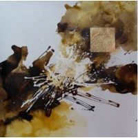 ABSTRACT OIL PAINTING ON CANVAS AB002-3 90x90CM
