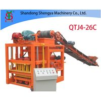 QTJ4-26C medium size concrete block production plant for interlocking bricks and cement blocks