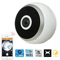 Easy installation HD 960P 1.44 mm Lens 360 degrees Wide Angle Surveillance Mini VR IP Camera thumbnail image