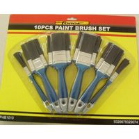 Blister card pure PET bristle 10 piece paint brush set