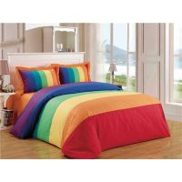 Rainbow energetic 4pcs bedding set duvet cover flat sheet pillowcase