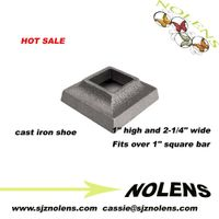 "Cast Iron Base Shoe for 1/2"" Square Bar"