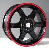 Black volk te 37 alloy wheels with red edge