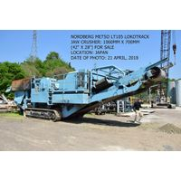 USED NORDBERG METSO LOKOTRACK MODEL LT105 MOBILE JAW CRUSHER