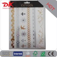 Wholesale 100 more designed Metallic Gold tattoos