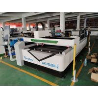 double laser head 1325 fiber laser cutter machine with 150W co2 laser head for non-metal acrylic sta