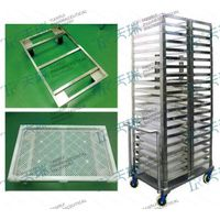 Stainless Steel Capsule Cooling Tray Trolley- Softgel Production Support thumbnail image
