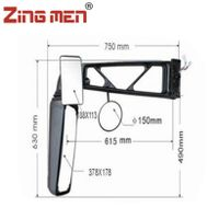 Best-seliing Bus Rearview Mirror For Kinglong 10-11m Coach