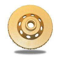 "ZERED 4"" Premium Turbo Grinding Cup Wheel for Granite - Medium & Coarse Grit"