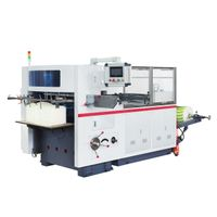 Paper automatic die cutting and creasing machine for paper food box MR-50B