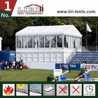 High Quality Sports Double Decker Event Tent with Glass Wall for Equestrain Match