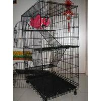 Folding Suitcase 2 Level Wire Metal Dog Cat Cage