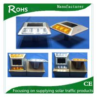 Highway durable aluminum solar cat eyes solar road stud