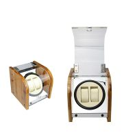 Bamboo Wood Piano Lacquer Wood Watch Winder Box for Automatic Watches Double thumbnail image