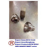 ASTM B564 UNS N08825 MNPT union