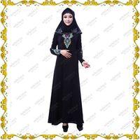 Mirakle Hot Black Designed Abaya