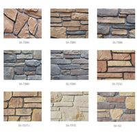 Decorative wall cladding faux stone veneer