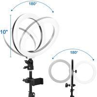 "Ring Light 10"" with Tripod Stand - PregDoc LED Camera Selfie Light Ring for Live Stream, YouTube Vid thumbnail image"