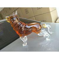 OEM Custom American Pit Bull Terrier Dog Bulldog Glass Bottle