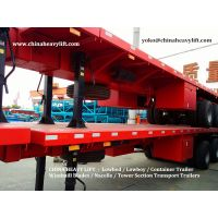 CHINA HEAVY LIFT - 3 axle Flatbed Container Trailer